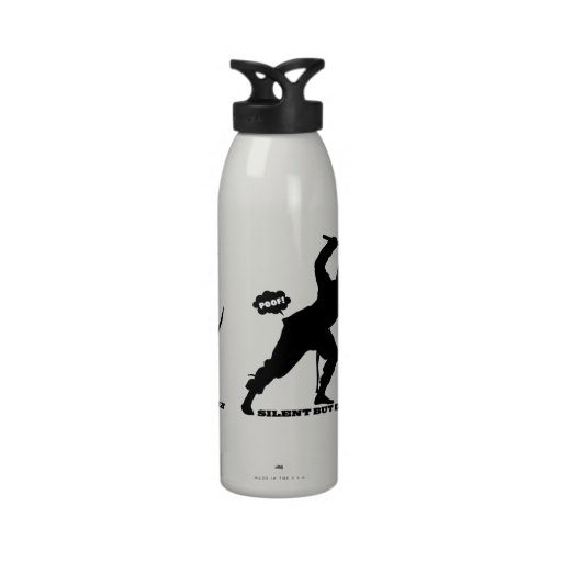 funny farting ninja silent but deadly reusable water bottles