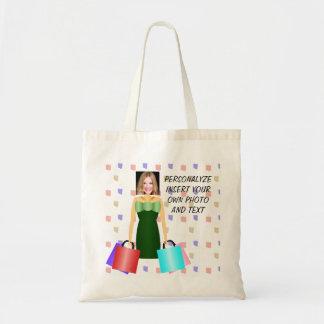 Funny Fashion Addict, Tote Bag - Add Photo & Text