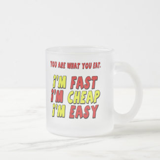 Funny Fast Cheap Easy T-shirts Gifts Frosted Glass Mug