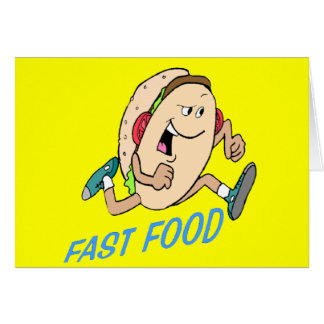 Funny Fast Food T-shirts Gifts Greeting Card
