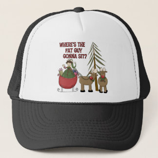 Funny Fat Guy Christmas Baseball Cap/Hat Trucker Hat