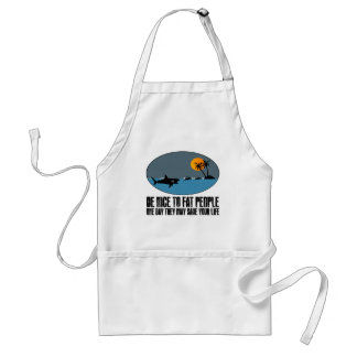 Funny fat joke adult apron