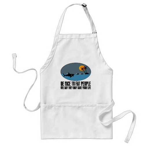 Funny fat joke apron