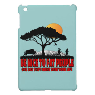 Funny fat joke cover for the iPad mini