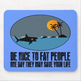 Funny fat joke mouse pads