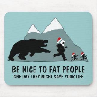 Funny fat joke mouse pad