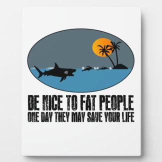 Funny fat joke photo plaque