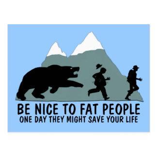 Funny fat kid postcard