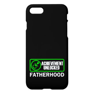Funny fatherhood achievement unlocked phone case