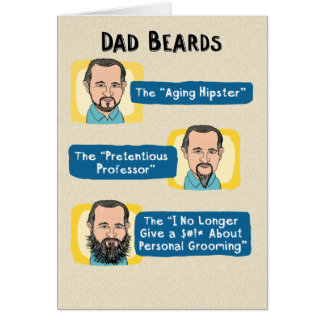 Funny Father's Day Card: Dad Beards Card