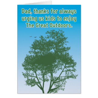 Funny Father's Day Card: Great Outdoors Card