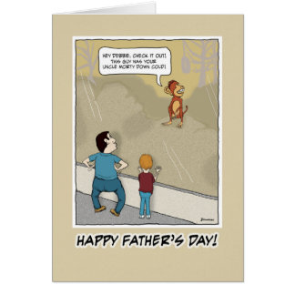 Funny Father's Day card: Monkey Around Card