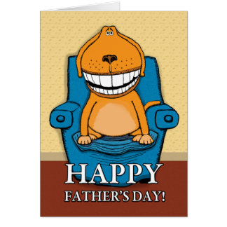 Funny Father's Day: Favorite Chair Card