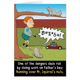 Funny Father's Day Nutty Squirrel Card