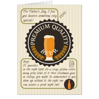 Funny Father's Day Retro Beer Label for Boss Card