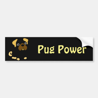 Funny Fawn Pug Dog Abstract Bumper Sticker