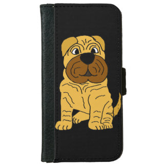 Funny Fawn Shar Pei Puppy Dog iPhone 6 Wallet Case
