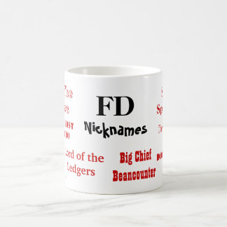 Funny FD Nicknames! Joke Finance Director Mug
