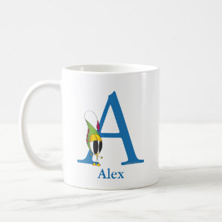 Funny Fellows ABC: Letter A | Add Your Name Coffee Mug