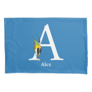 Funny Fellows ABC: Letter A   Add Your Name Pillowcase