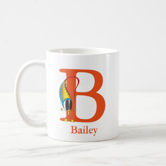 Funny Fellows ABC: Letter B | Add Your Name Coffee Mug