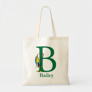 Funny Fellows ABC: Letter B | Add Your Name Tote Bag