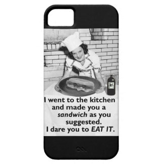 Funny Feminist Make Me a Sandwich iPhone 5 Cover