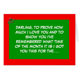 Funny festive period greeting card