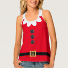 Funny Festive Red Christmas Elf Tank Top