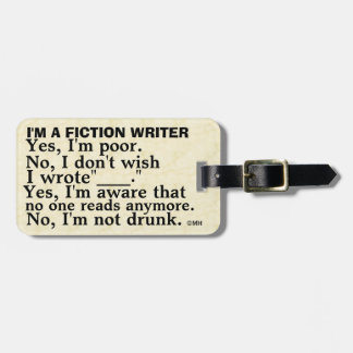 Funny Fiction Writer Answer Sheet Luggage Tag