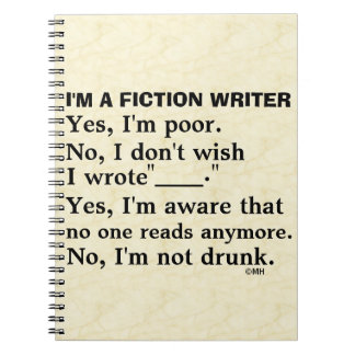 Funny Fiction Writer Answer Sheet Spiral Notebook