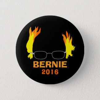 Funny Fiery Hair Bernie Sanders 6 Cm Round Badge