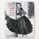 Funny Fifties Model Mouse Pad