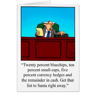 Funny Financial Humor Christmas Card