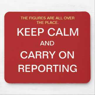 Funny Financial Reporting Quote Joke - Keep Calm Mouse Pad