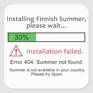 Funny Finnish Summer stickers
