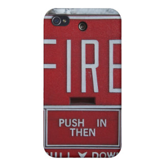 Funny Fire Dept Emergency Fire Pull Station Cover For iPhone 4