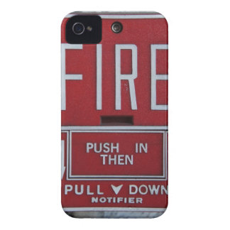 Funny Fire Dept Emergency Fire Pull Station iPhone 4 Cover