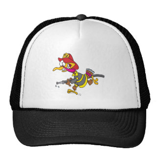 funny firefighter turkey cartoon cap