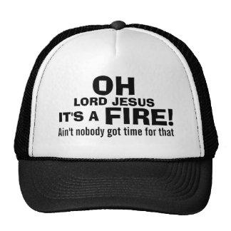 Funny Fireman  It's a FIRE! Mesh Hat