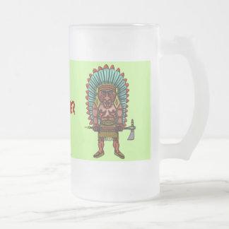 Funny firewater indian beer mug