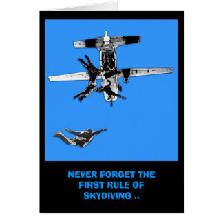 Funny,first rule of skydiving birthday card