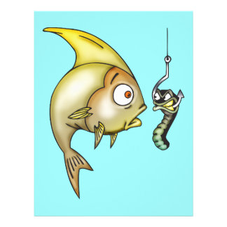Funny Fish And Worm 21.5 Cm X 28 Cm Flyer