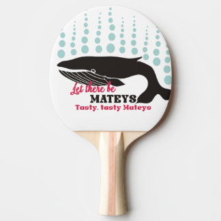 Funny fish boating killer whale tasty mateys ping pong paddle