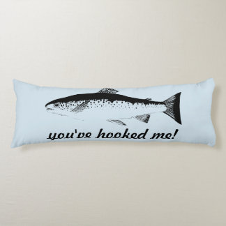 Funny Fish Body Pillow Blue Black