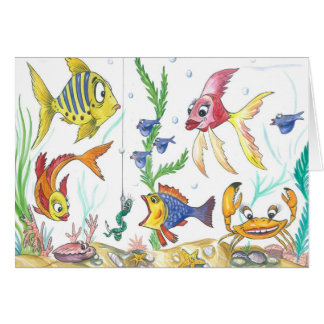"Funny Fish Card ""Under the Sea"""