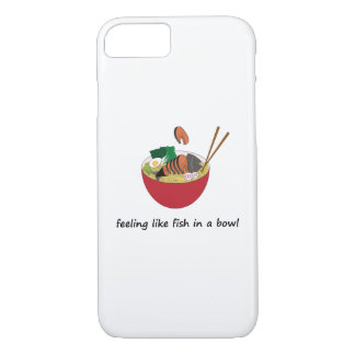 Funny Fish in a Bowl iPhone 7 Phone Case