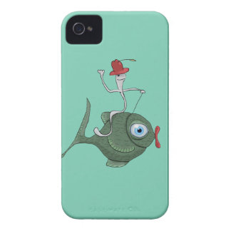 Funny Fish iPhone 4, Barely There iPhone 4 Case-Mate Case