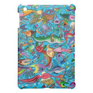 """Funny Fish"" (On Blue) iPad Mini Matte Finish Case iPad Mini Cover"