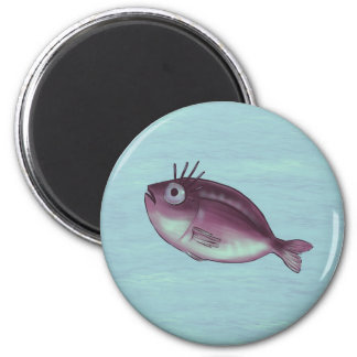 Funny Fish With Fancy Eyelashes Digital Art Magnet